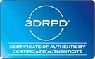 3DRPD Certificate of Authenticity